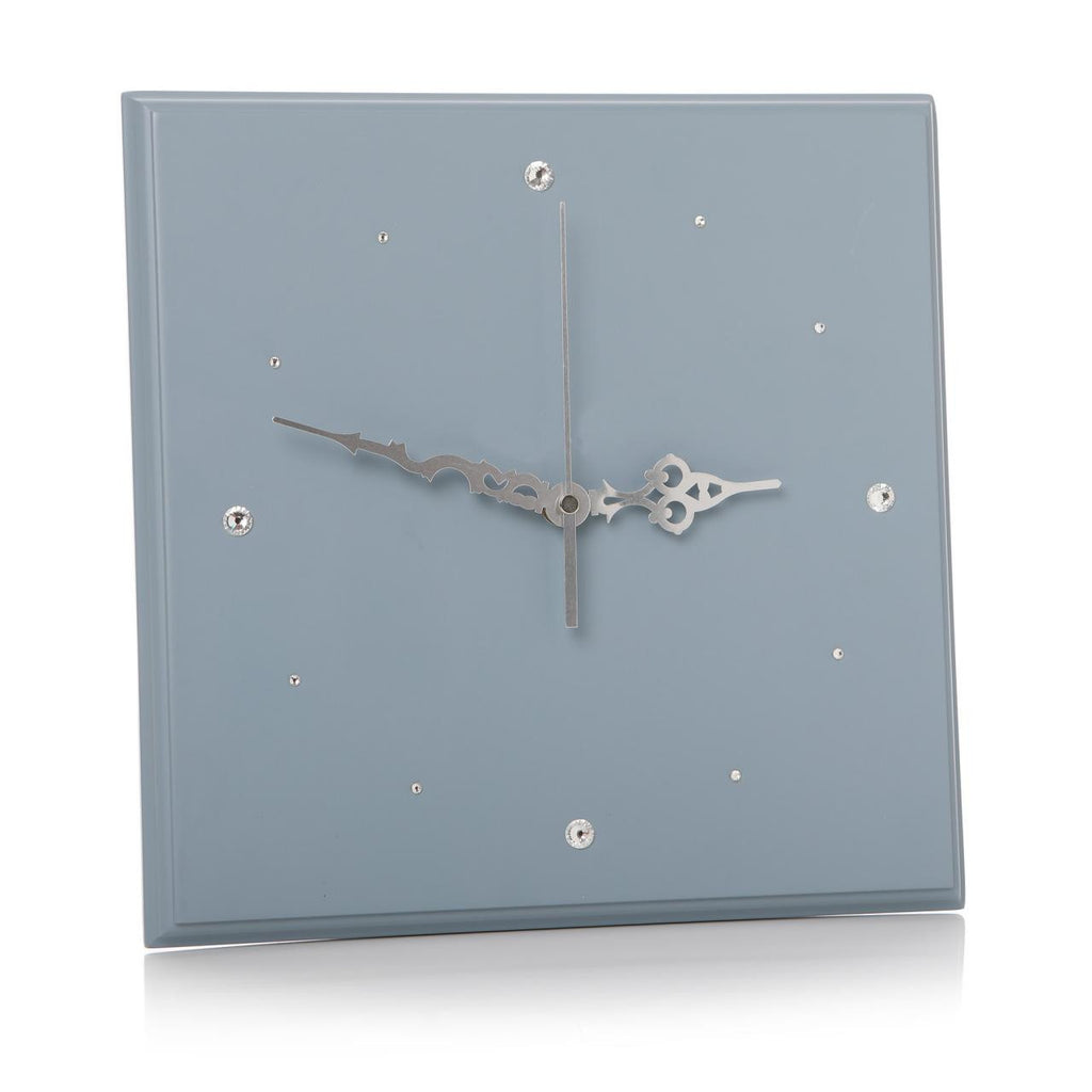 Glamorous Diamante Wall Clock 29cm - Available in 7 different colours