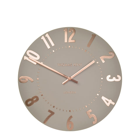 NEW - Thomas Kent Mulberry Rose Gold Wall Clock - 12inch