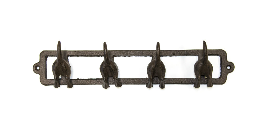 Dog Tail Key / Coat Hooks - Cast Iron