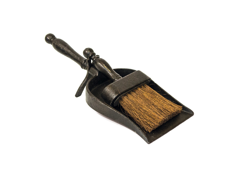 Small Black Hearth Tidy - Brush and Pan