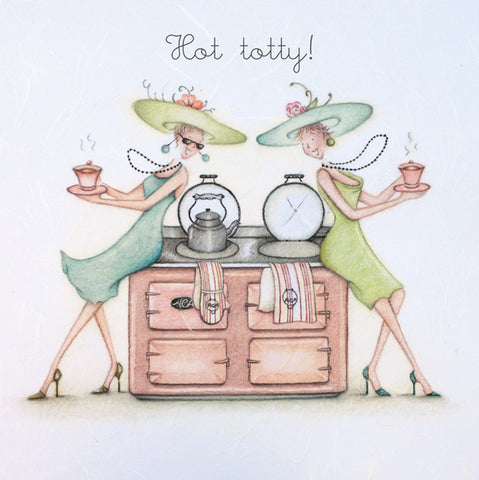 Aga Birthday Card - Hot totty!  Berni Parker