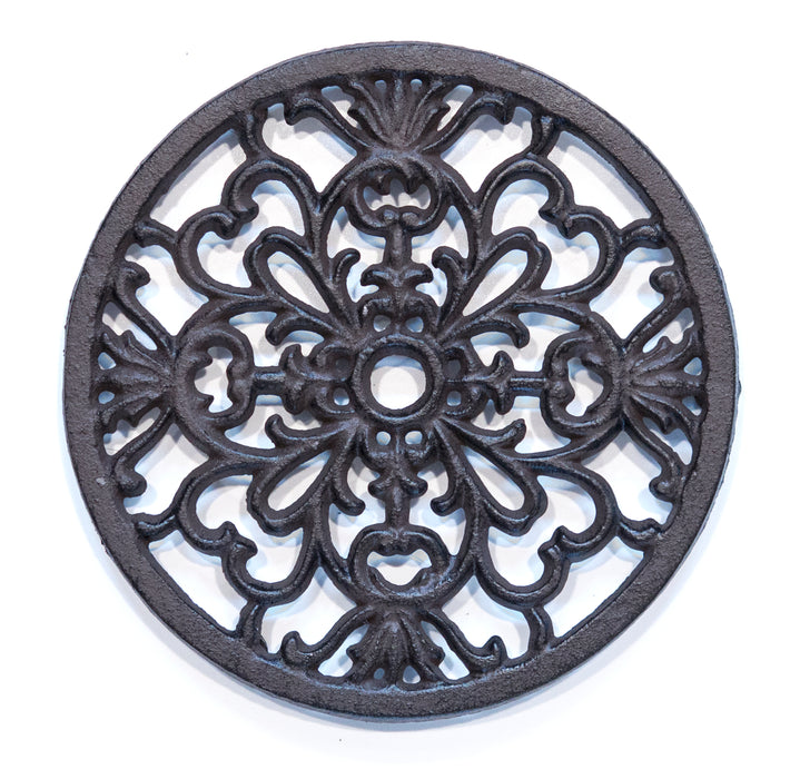 Cast Iron Decorative Round Circular Kitchen Trivet