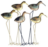 Wading Birds Metal Wall Art - Gold