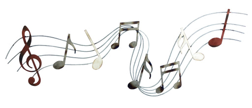 Playful Music Notes Metal Wall Art