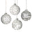 Glass Bauble Set Christmas Tree Decorations - Set of 4