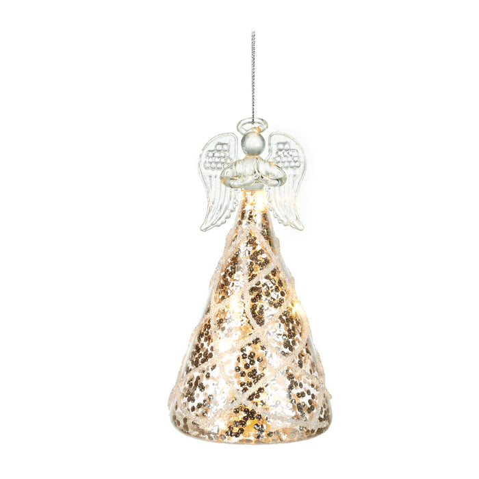 Light up Glass Angel Hanging Decoration