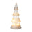 Light Up Glass Cone Christmas Tree Sparkle Trim - Small - New for X'mas 2020