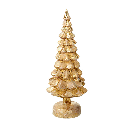 Light Up Gold Glass Christmas Tree