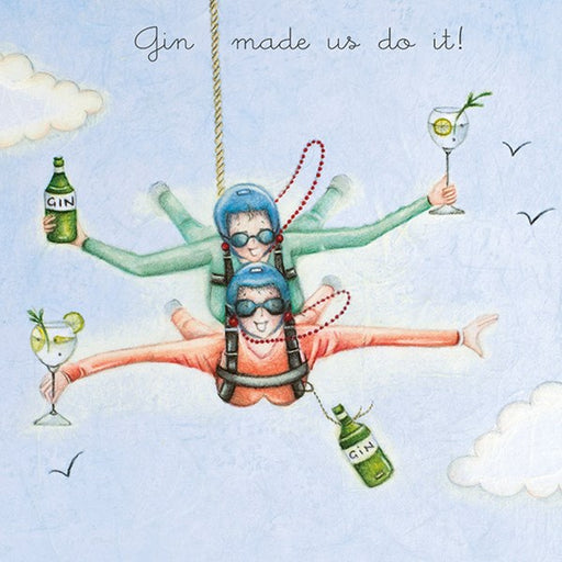 Gin Birthday Card - Gin made us do it! Berni Parker