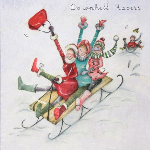 Christmas Card - Downhill Racers - Berni Parker