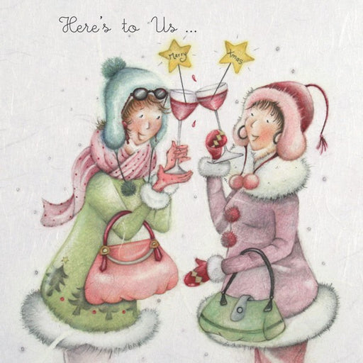Christmas Card - Here's to us... - Berni Parker