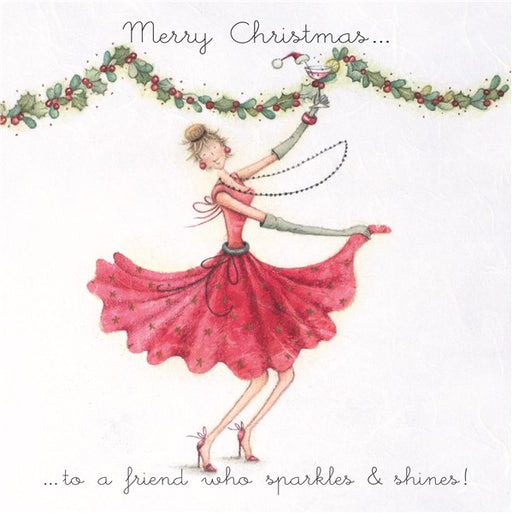 Christmas Card - Merry Christmas..to a friend who sparkles & shines! - Berni Parker