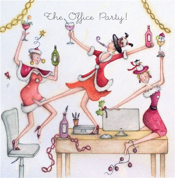 Christmas Card - The Office Party! - Berni Parker