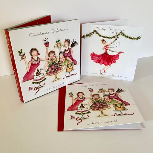 Berni Parker Christmas Card Pack - Friend / Calories - Pack of 8