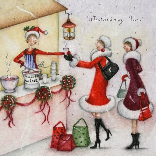Christmas Card - Warming Up - Berni Parker