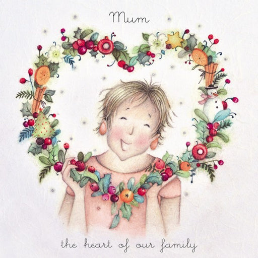 Christmas Card - Mum The Heart of our Family - Berni Parker