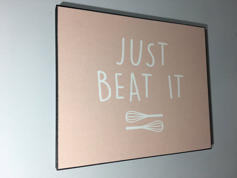 Just Beat it - Wall Plaque #GBBO