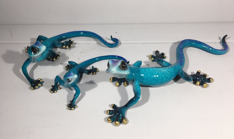 Blue Gecko Wall Decor - Medium