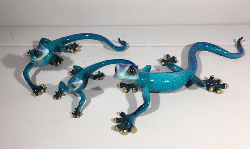 Gecko Family - Blue Gecko Wall Decor