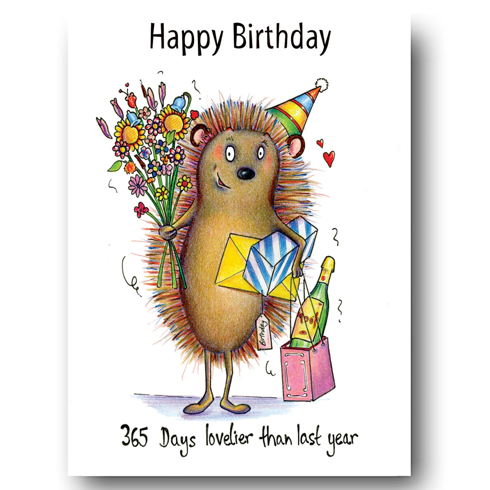 Hedgehog Card - 365 Days Lovelier than last year