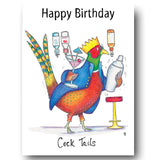 Happy Birthday Card - Cock Tails