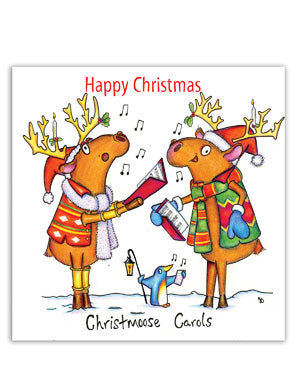 Moose Christmas Card - Happy Christmas, Christmoose Carols