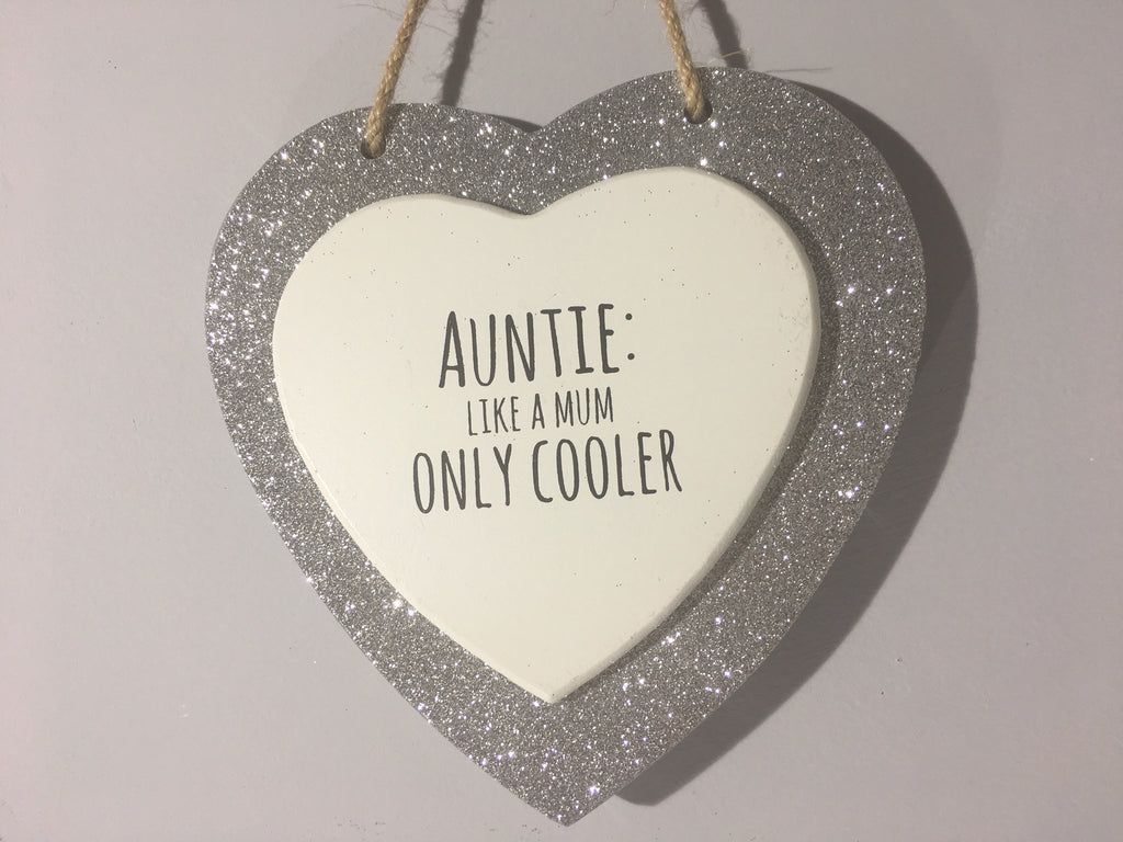 Sparkle Heart - Auntie: Like a Mum Only Cooler