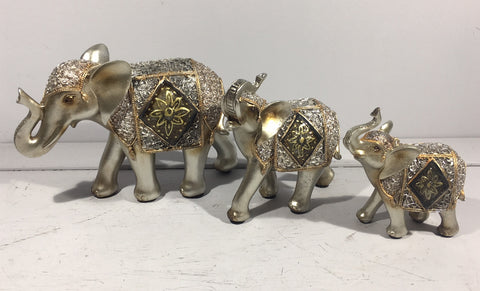 Diamond Crackle Elephant Medium
