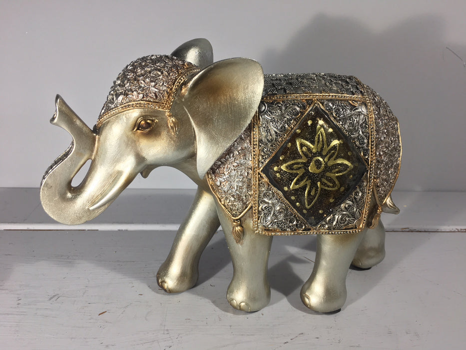 Diamond Crackle Elephant Large