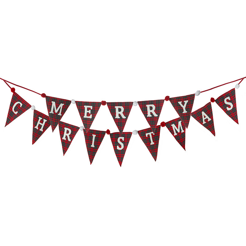 Tartan MERRY CHRISTMAS Large Bunting