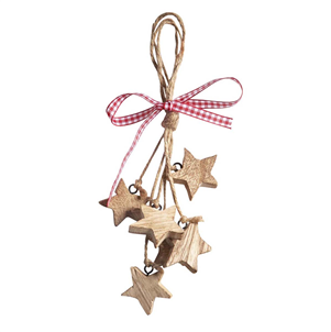 Mini Wooden Stars Cluster Hanging Decoration