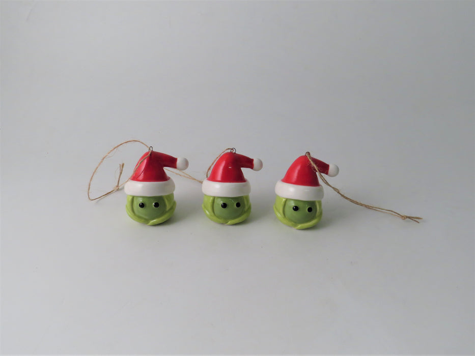 Sprouts! Ceramic Hanging Christmas Tree Decorations - Set of 3