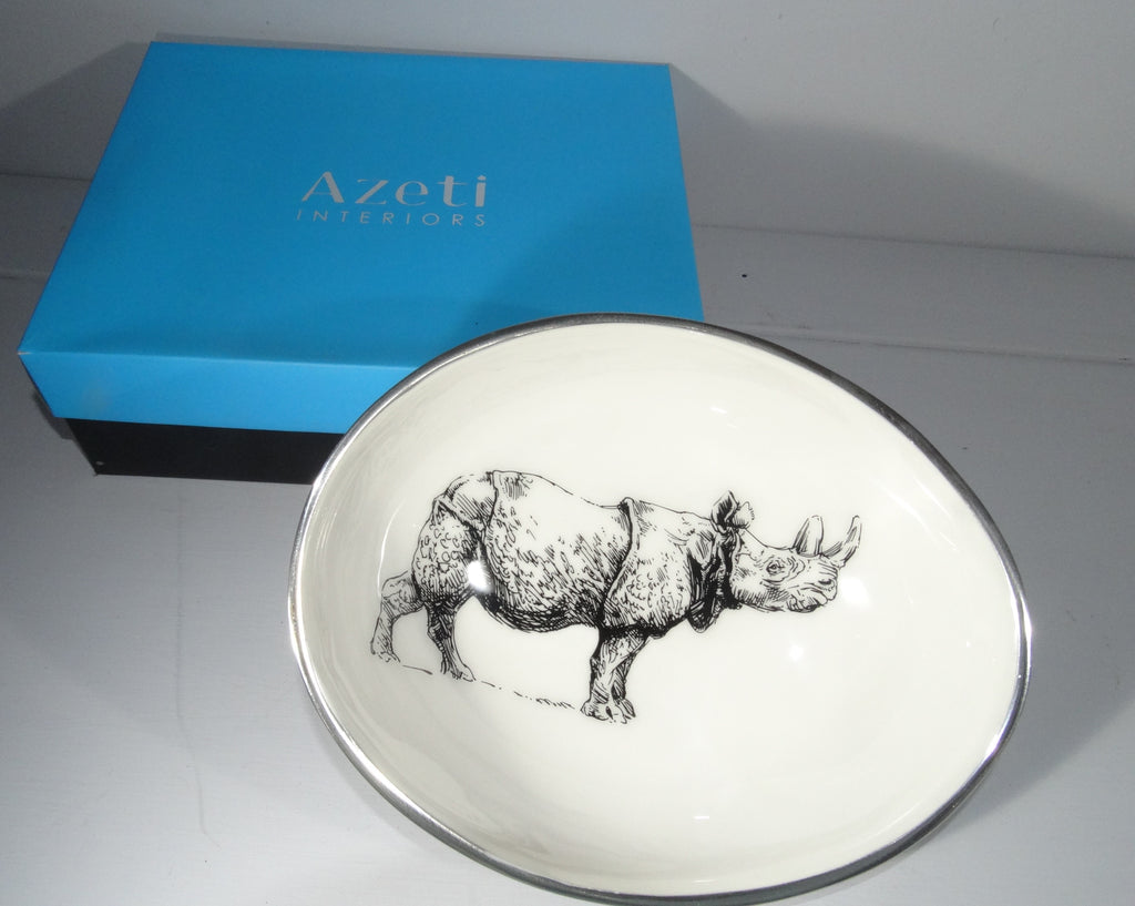 Rhino Small Oval Bowl - Azeti Interiors