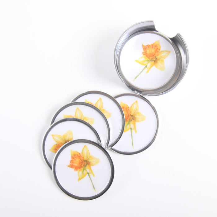 Daffodil Coasters set of 6 - Meg Hawkins