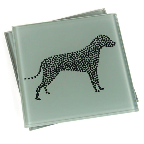 Dog Coasters - Heart Set of 2
