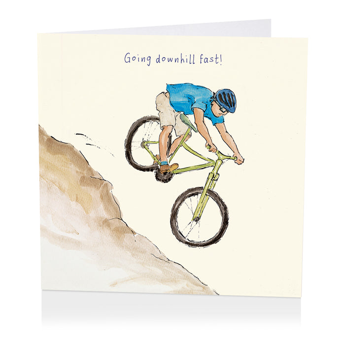 Cycling Card - Going Downhill Fast! - Art Beat