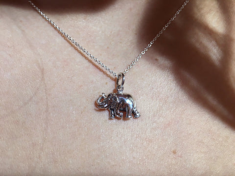 Elephant Necklace - Sterling Silver