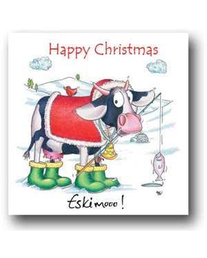 Cow Christmas Card - Eskimoo!