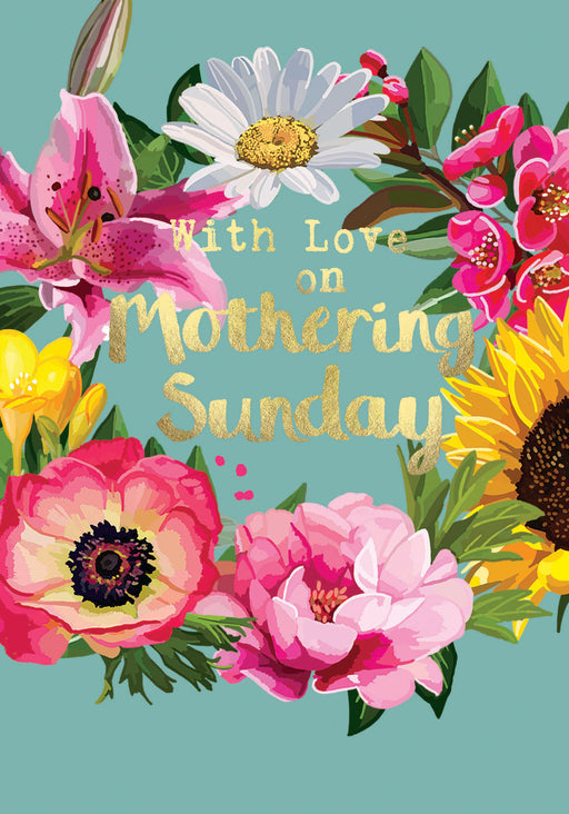 With Love On Mothering Sunday - Gold Foil Detail, Sarah Kelleher