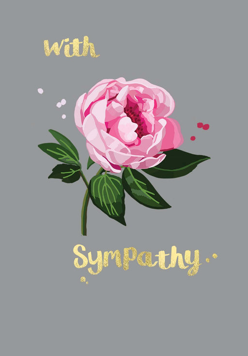 With Sympathy - Gold Foil Detail, Sarah Kelleher