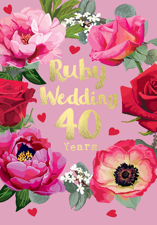 40th Wedding Anniversary - Ruby Anniversary - Sarah Kelleher