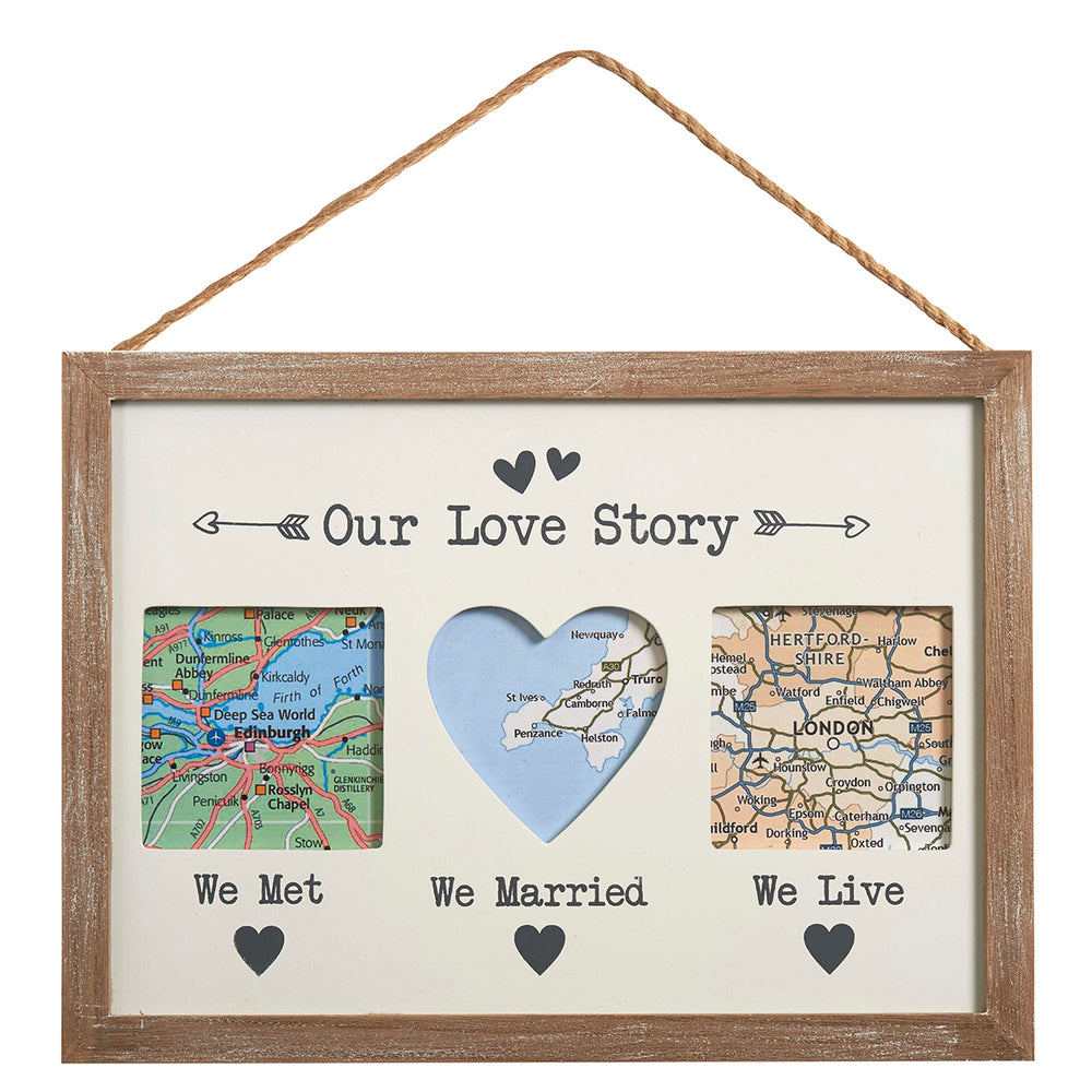 Our Love Story, Triple Frame - Wedding Gift