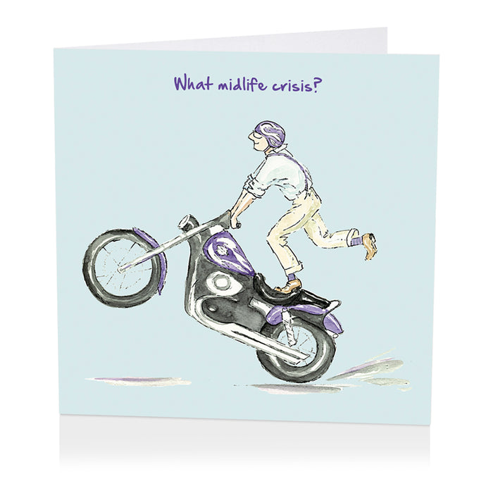 Motorcycle Card - What midlife crisis? - Art Beat