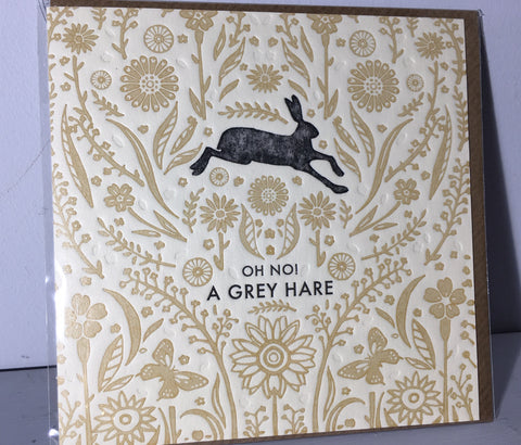 Oh no! A Grey Hare - Hedgerow Press - Art Beat