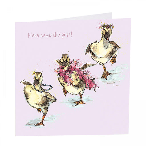 Duck Card - Here come the girls!