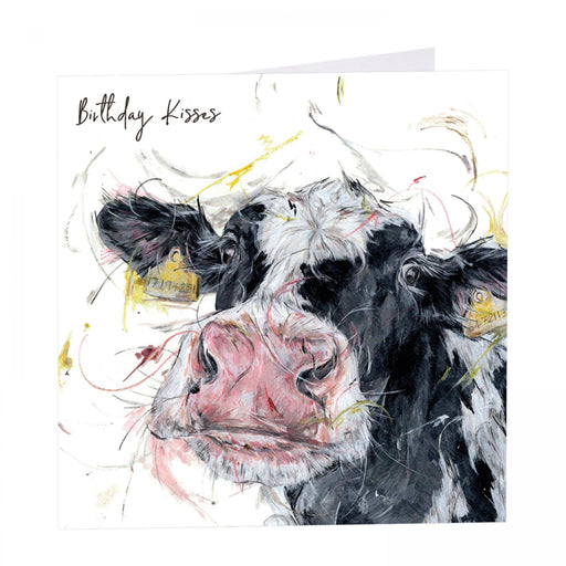 Birthday Kisses - Udderley Gorgeous Cow Card - Art Beat