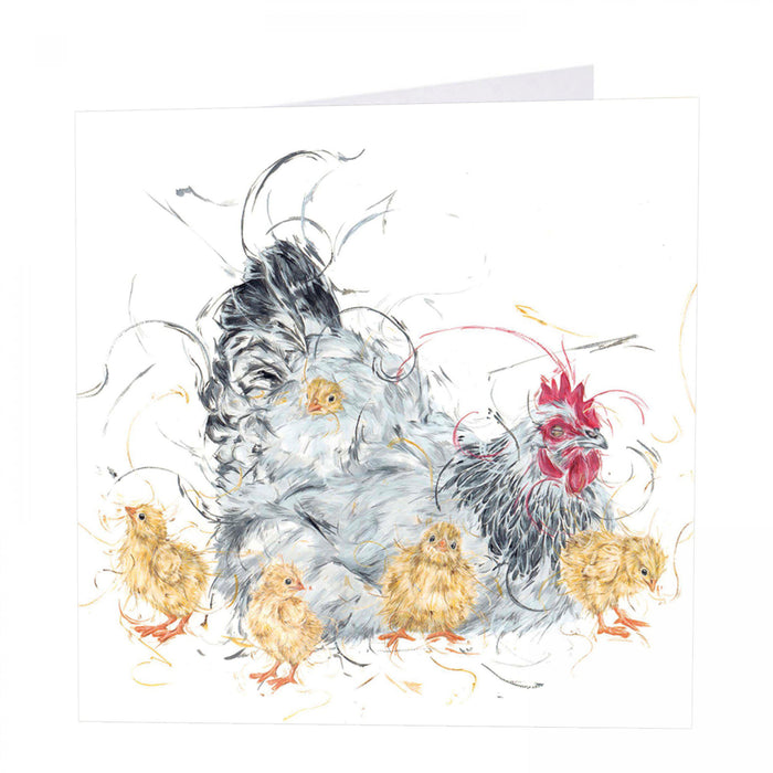 Hide and Seek - Mother Hen and Chicks, Chicken Card - Art Beat