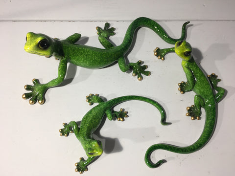 Gecko Family - Green Gecko Wall Decor