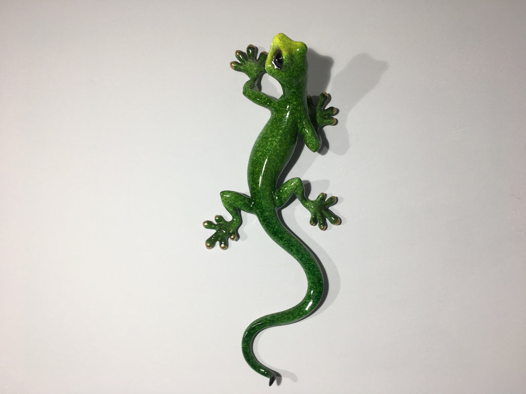 Green Gecko Wall Decor - Large