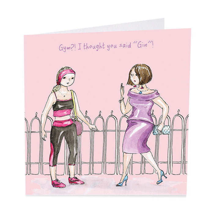 "Gin Card - Gym?! I thought you said ""Gin"" !"